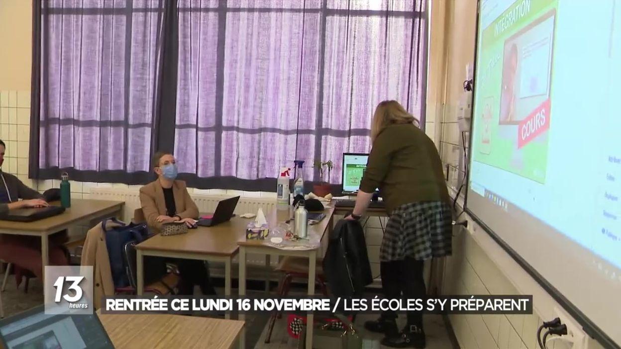 Rentrée ce lundi 16 novembre : les écoles s'y préparent