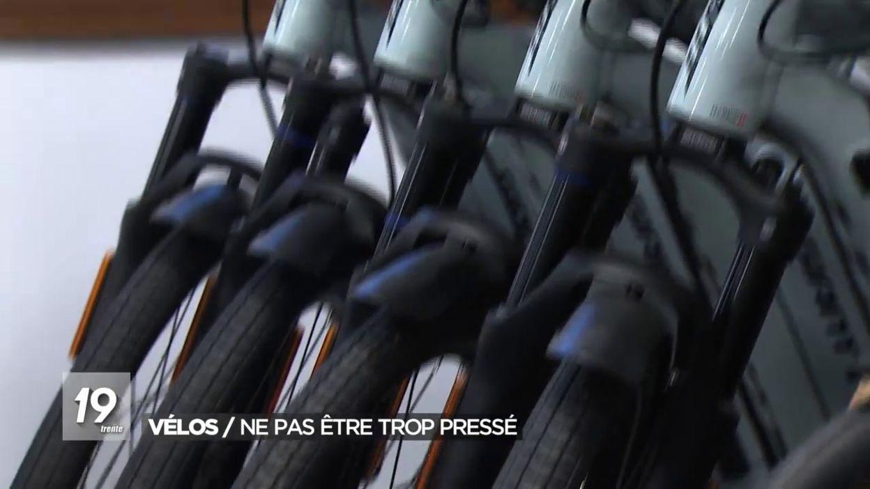Vélos : Ne pas être trop pressé