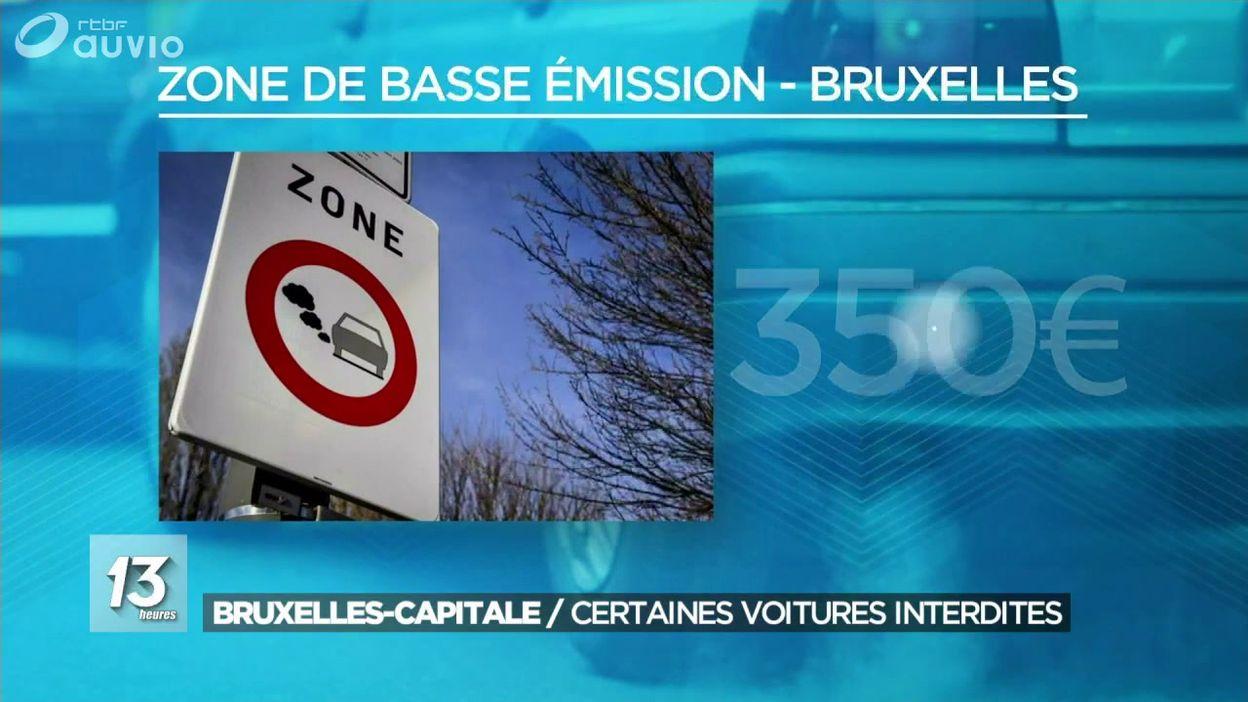 Bruxelles : entrée en vigueur des zones de basses émissions