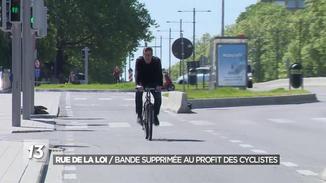 Rue de la Loi : bande de circulation supprimée au profit des cyclistes