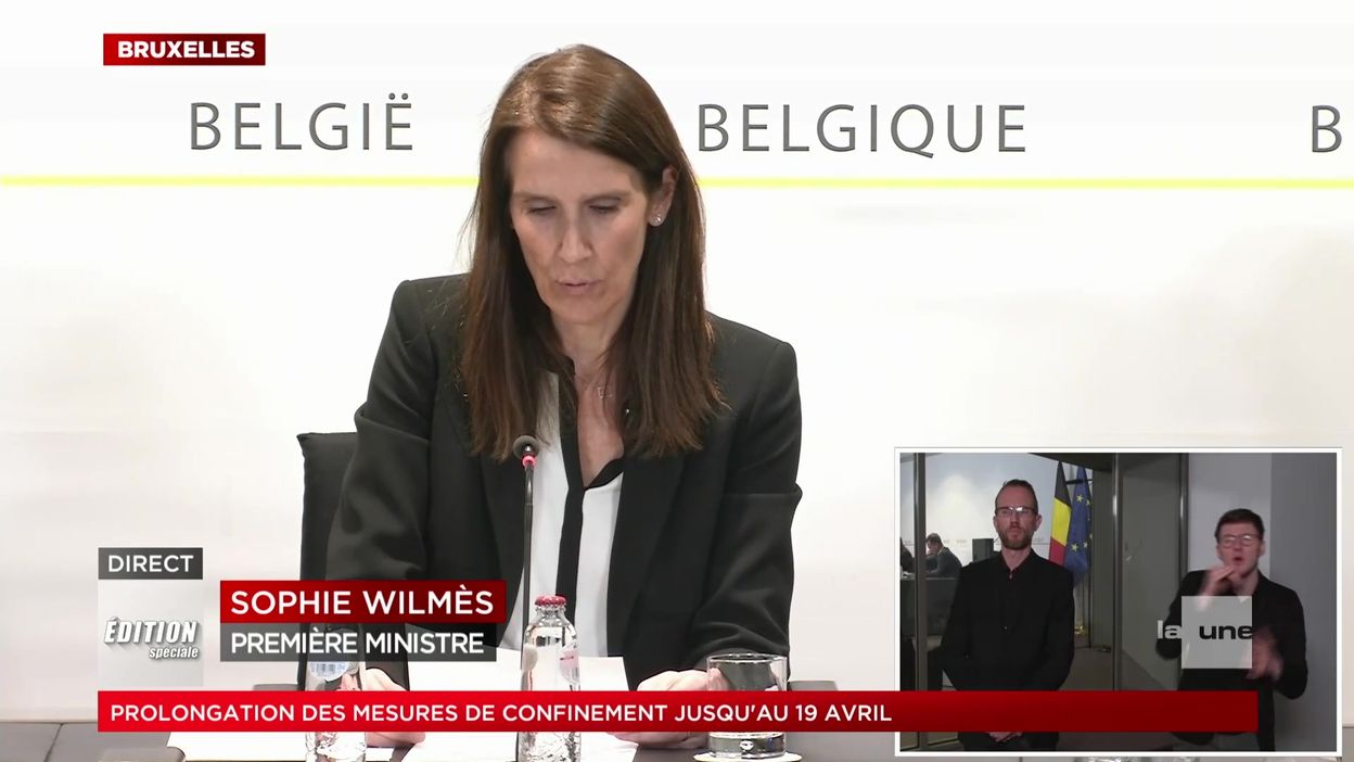 Conseil national de Sécurité : le nouveau message de Sophie Wilmès