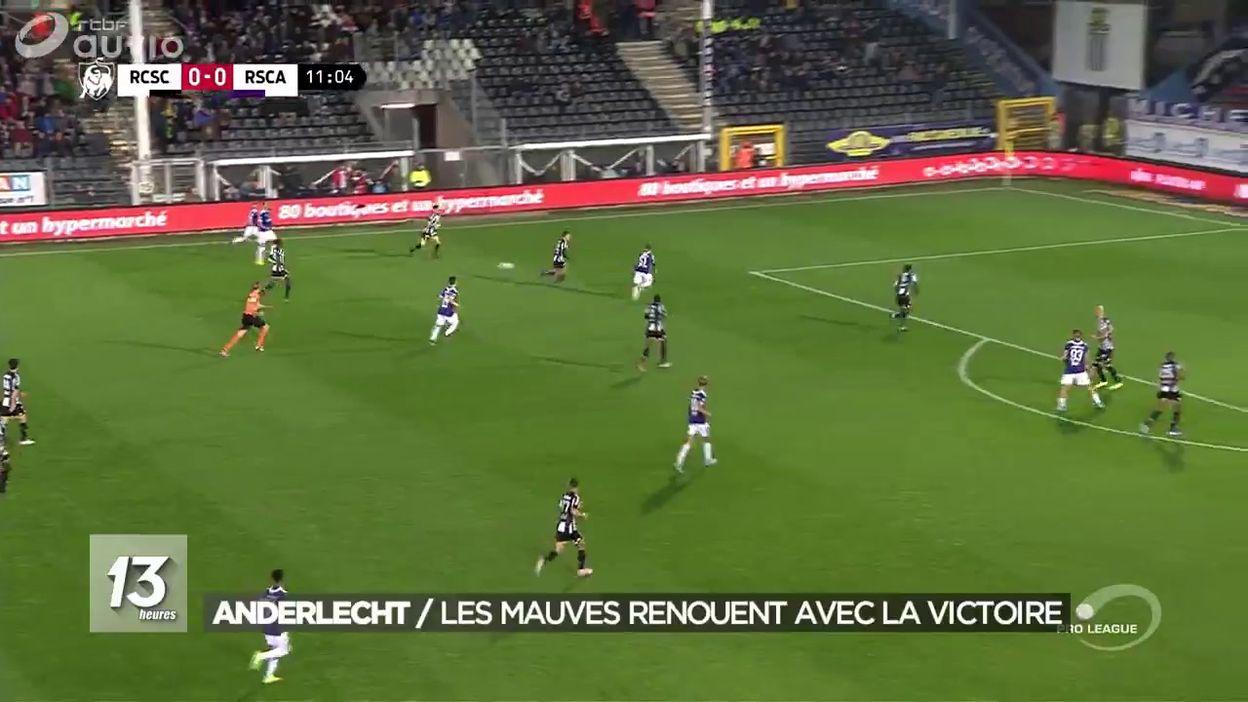Anderlecht renoue avec la victoire face à Charleroi