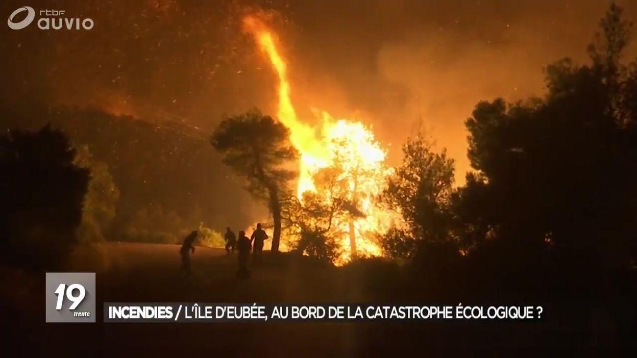 La Grèce en proie aux incendies sur l'île d'Eubée