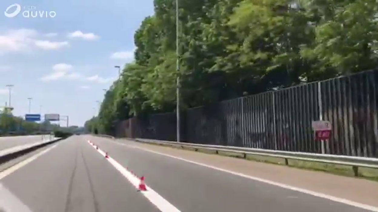 Rétrécissement de la fin de la E40 à Bruxelles: les travaux se poursuivent ce jeudi 16 mai