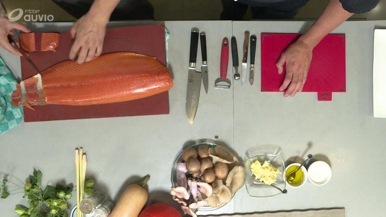 carpaccio-de-champignons-a-l-huile-de-truffe-saumon-fume-et-saumon-mi-cuit-partie-1