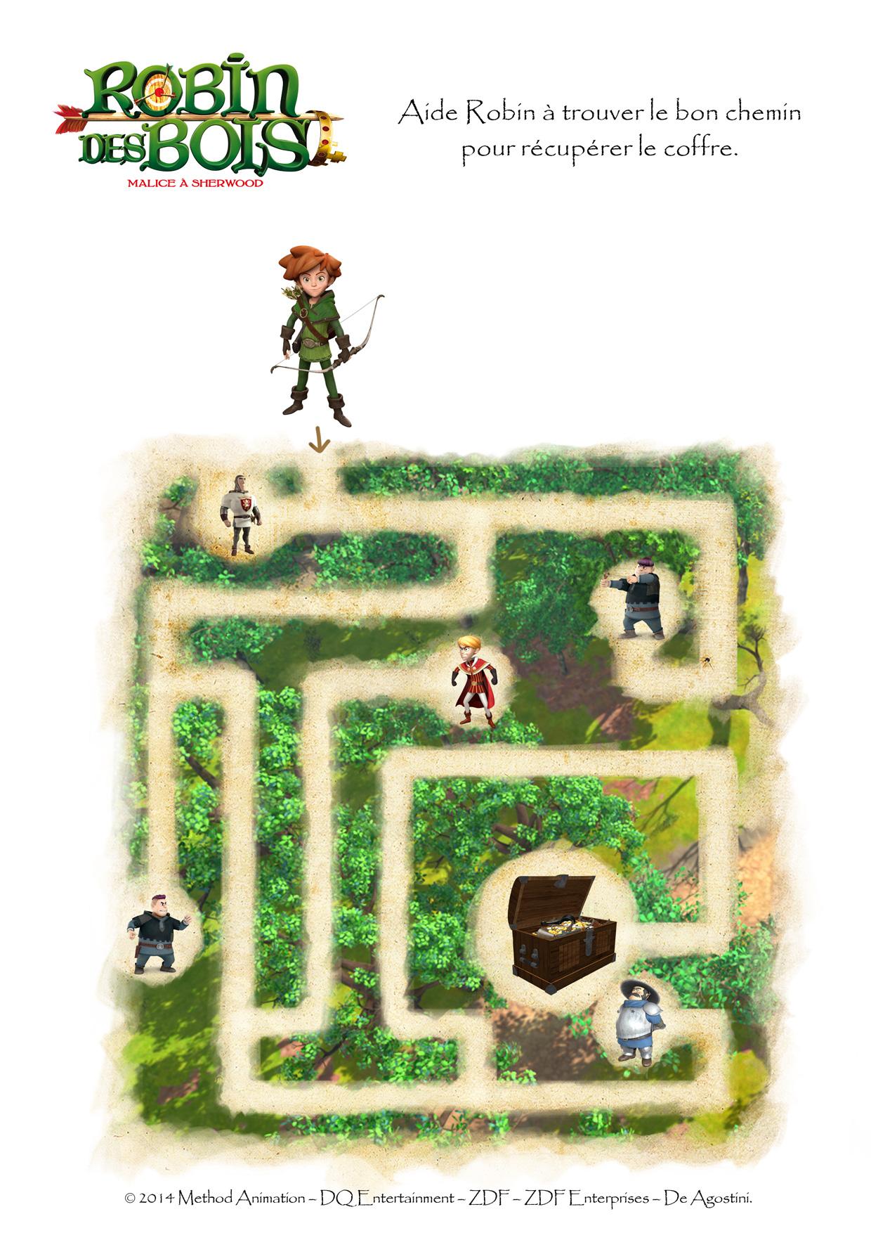Robin des bois - Labyrinthe à Sherwood