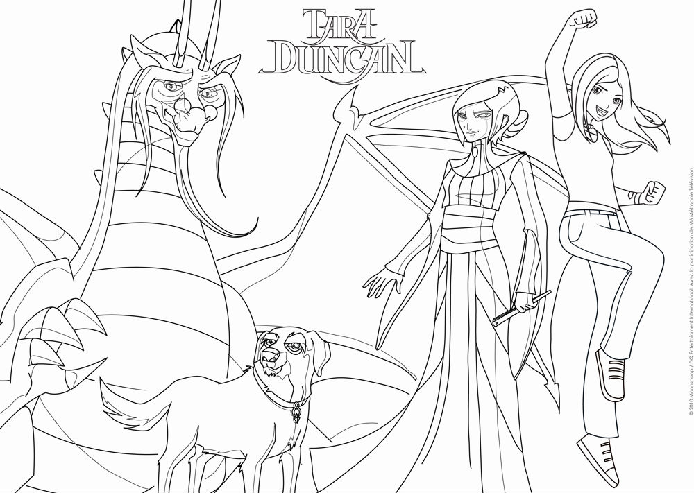 Tara duncan ouftivi - Jeux de dessin coloriage ...