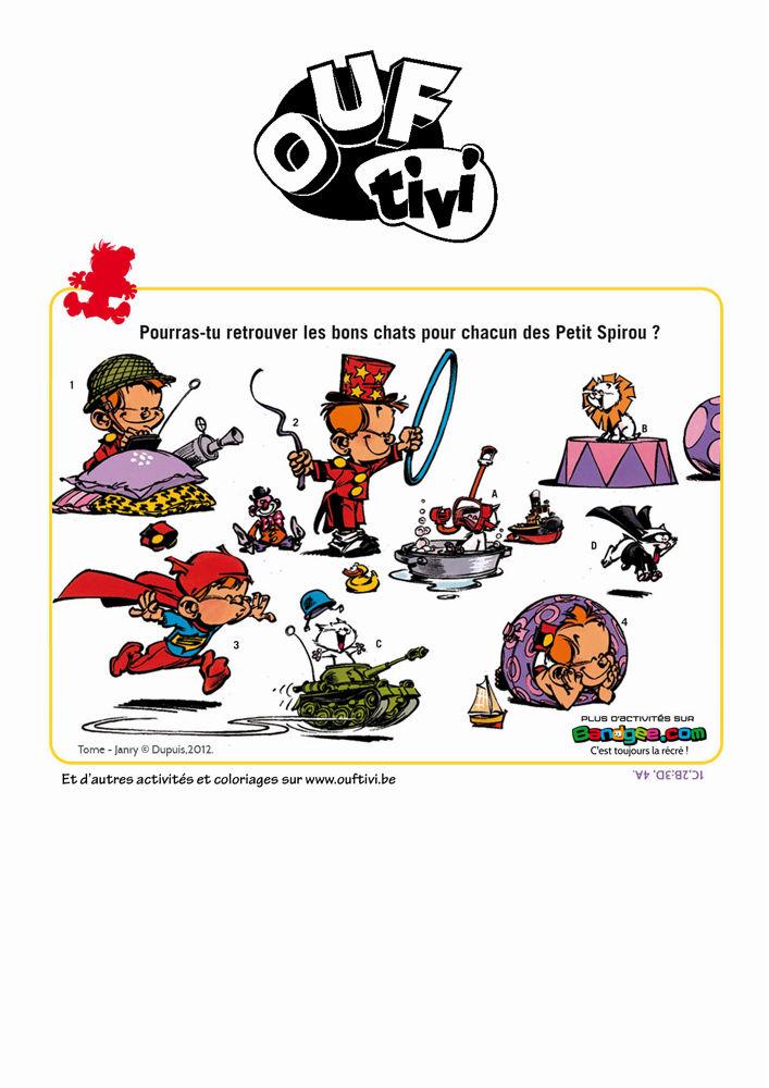 Le Petit Spirou - activité à imprimer