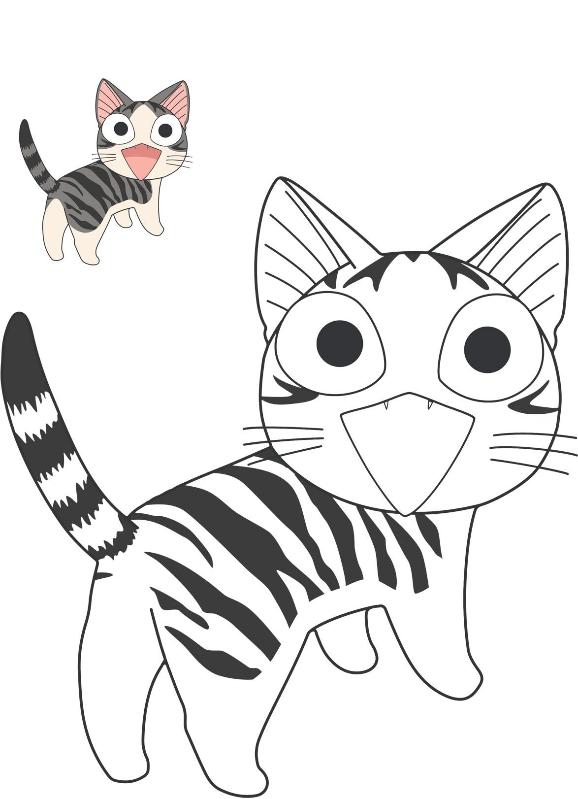 Chi une vie de chat ouftivi - Coloriage chat a imprimer ...