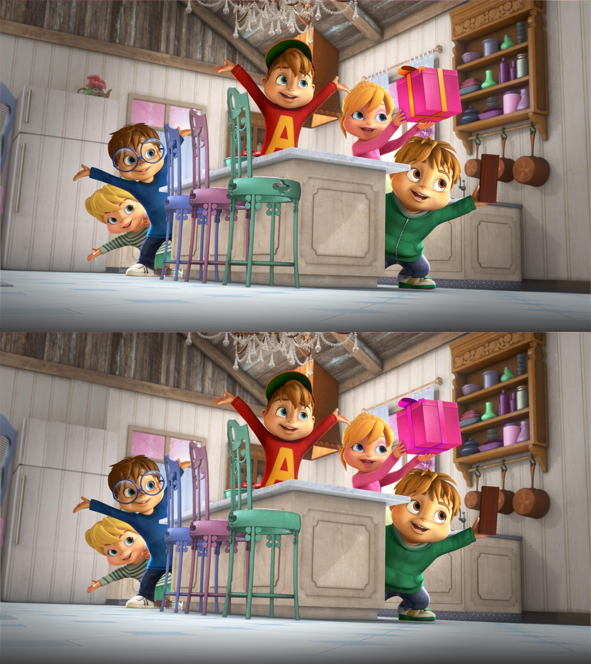 Jeu des différences - ALVINNN!!! et les Chipmunks