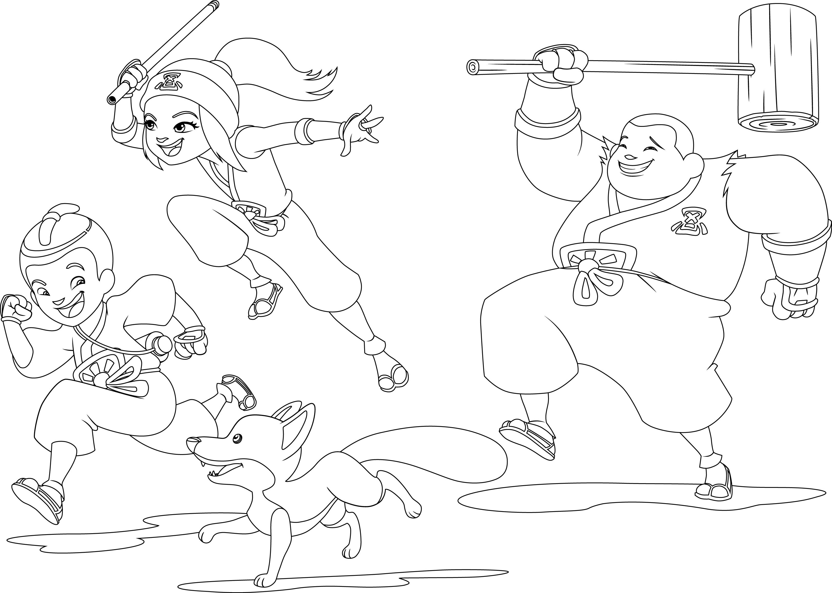 Mini ninjas Coloriage