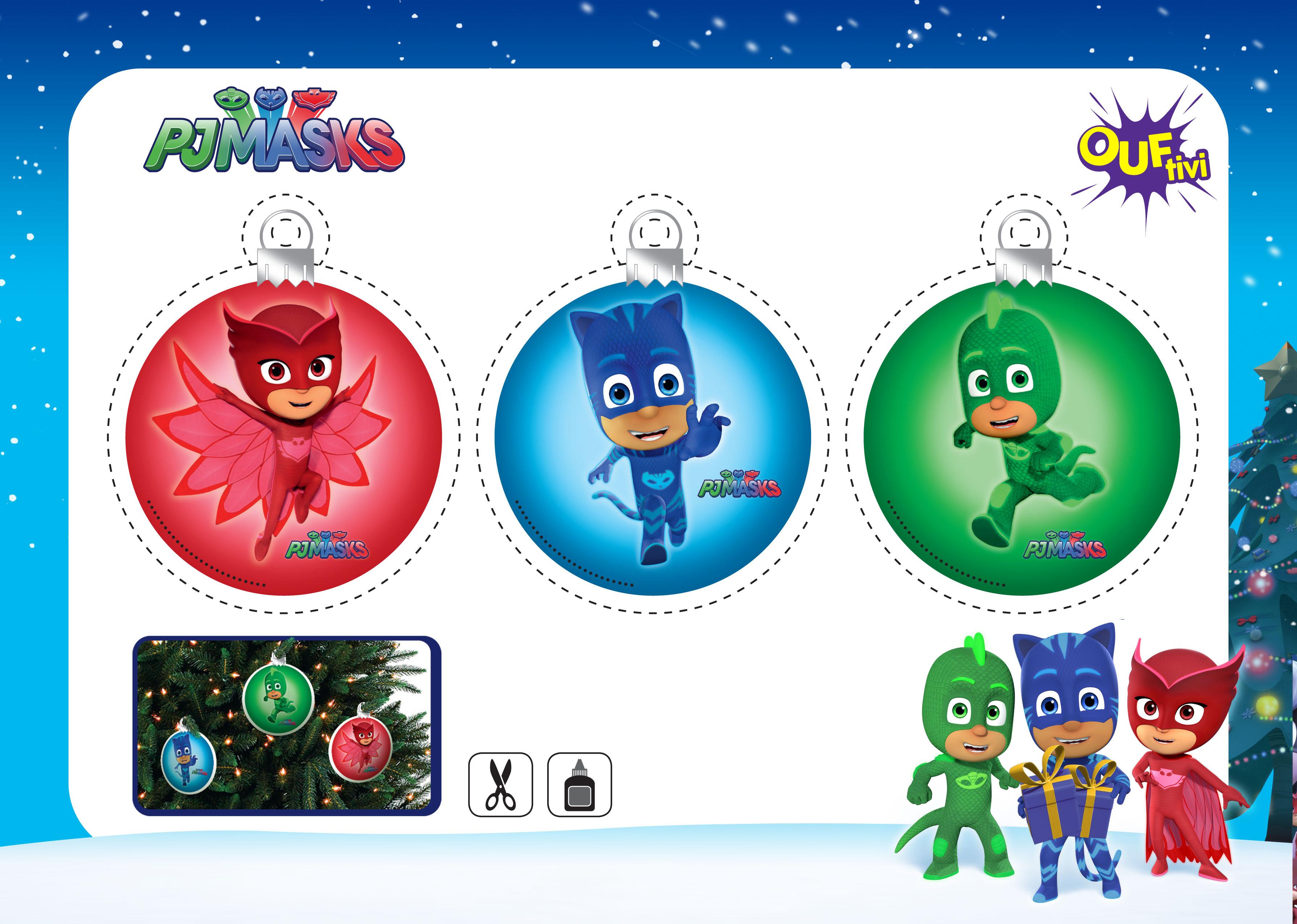 Tes boules de Noël Pyjamasques