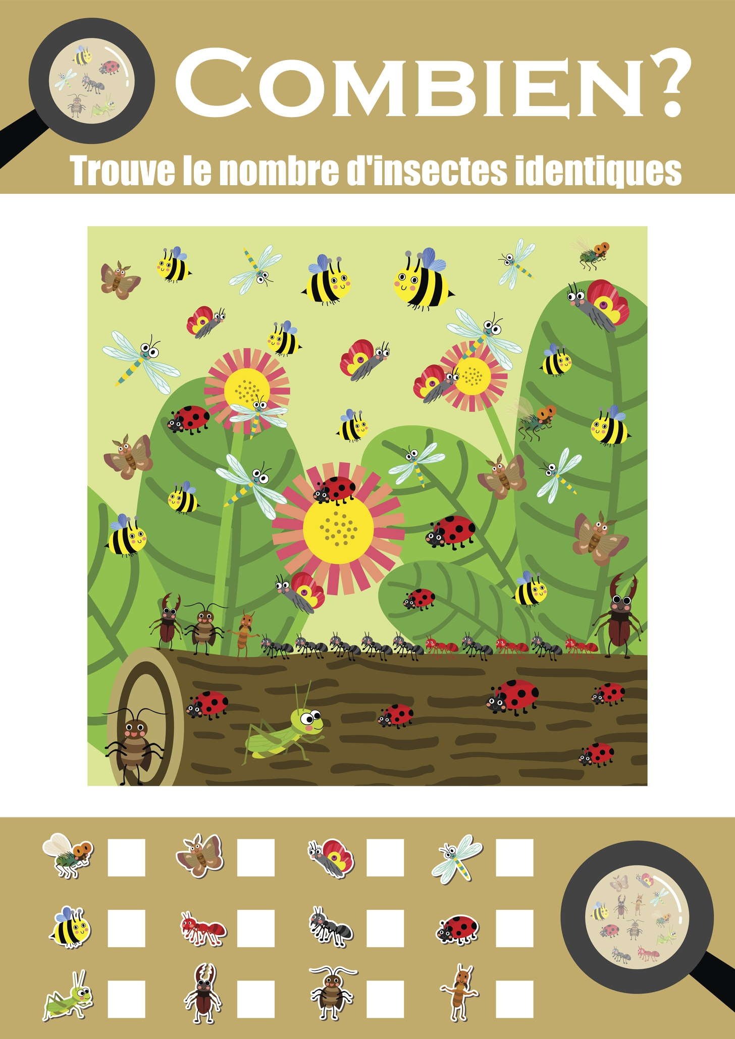 Combien d'insectes?